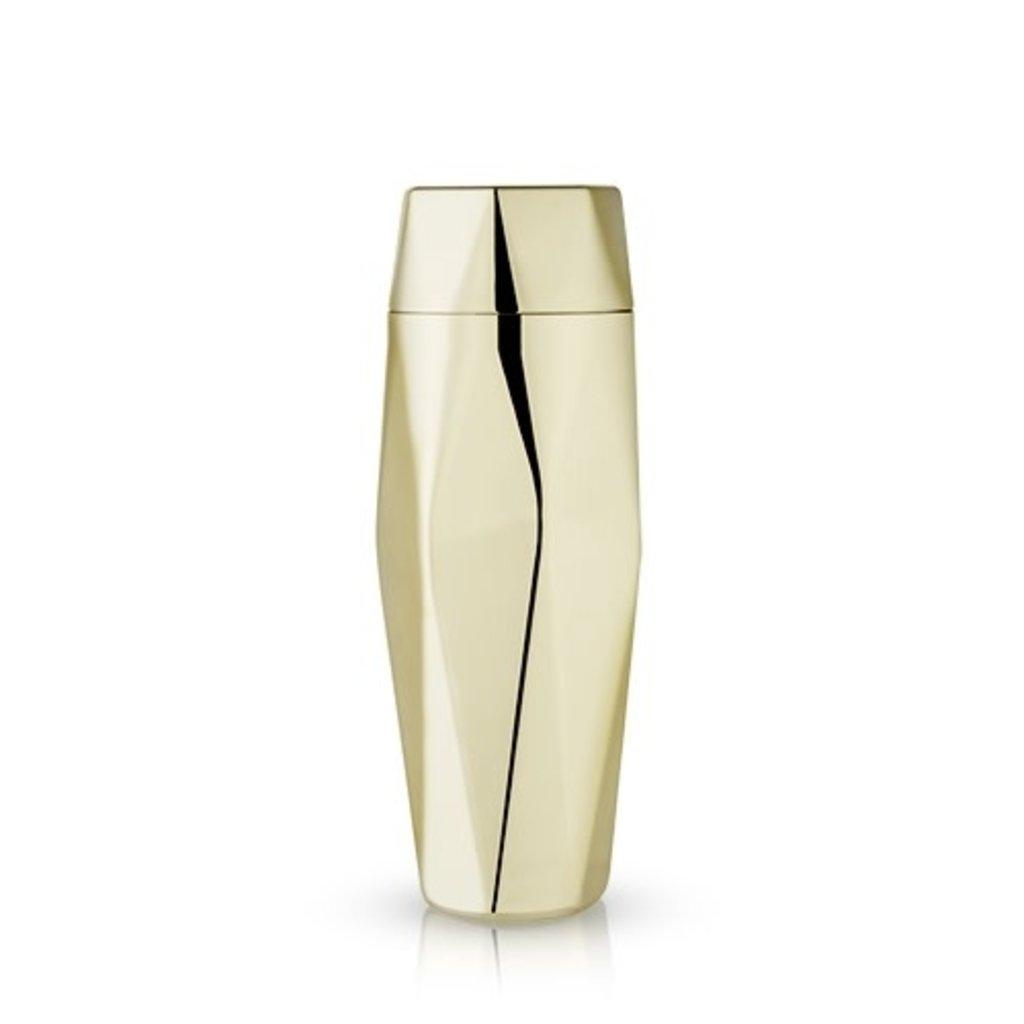 Viski Belmont: Apex Faceted Gold Cocktail Shaker