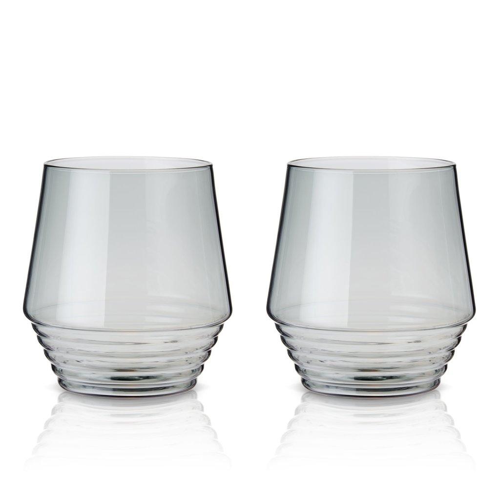 Viski Smoke Deco Cocktail Glasses - Set of 2