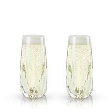 Viski Raye: Crystal Cactus Champagne Flutes (VISKI)