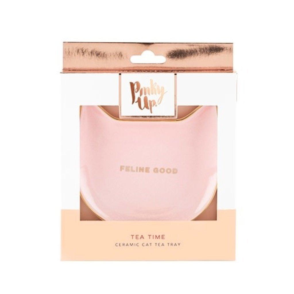 Purrrfect: Pink Cat Tea Tray
