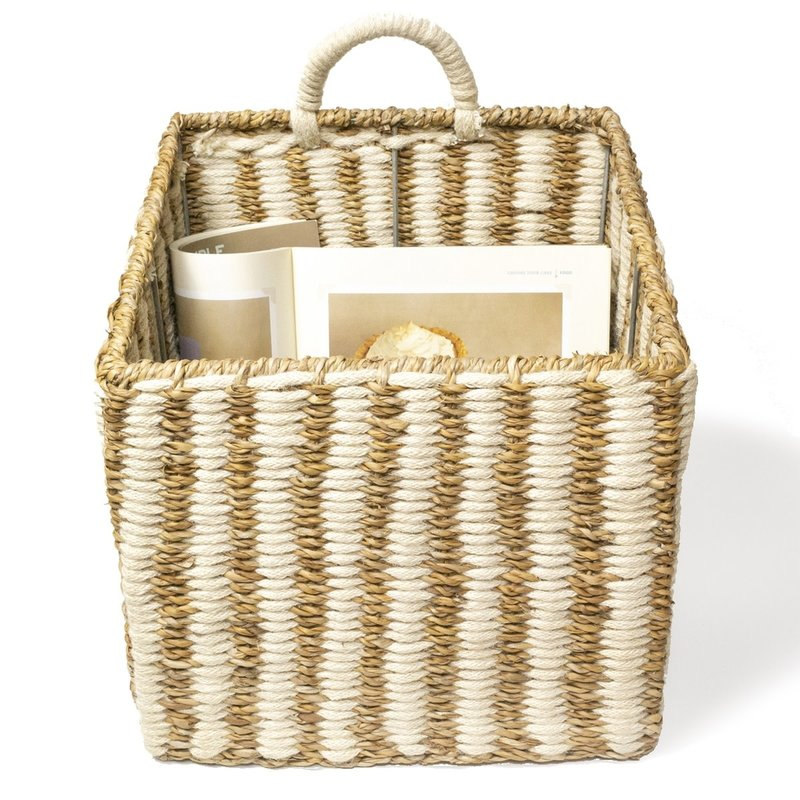 Korissa Ula Square Basket - Stripe