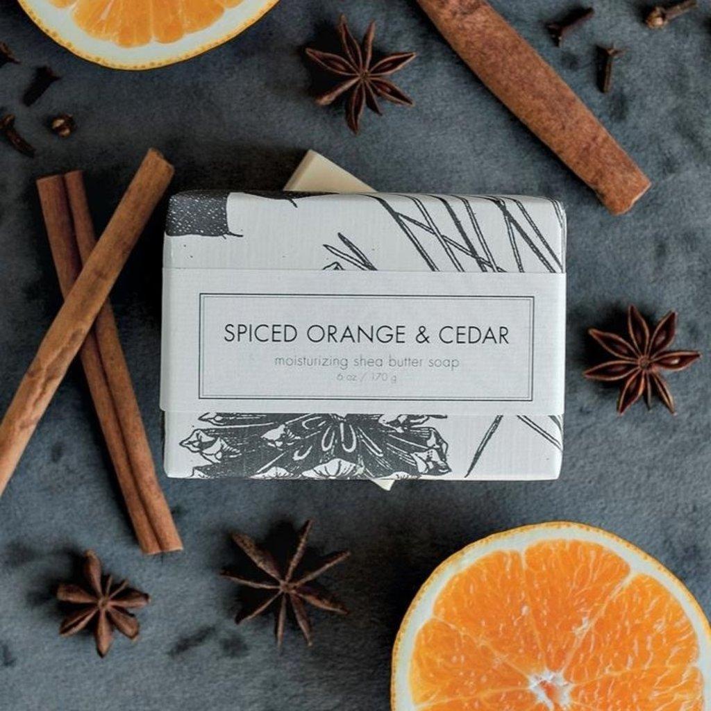 Spiced Orange & Cedar Seasonal Holiday Shea Butter Soap Bar