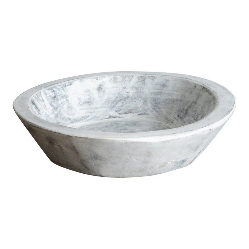 Found Dough Bowl White Wash XS