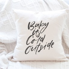 Indigo Tangerine Baby It's Cold Outside - Cotton Canvas Pillow