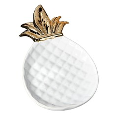 Design Imports Small Gold Pineapple Plate