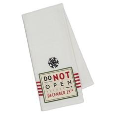 Design Imports Do Not Open... Embellished Dishtowel