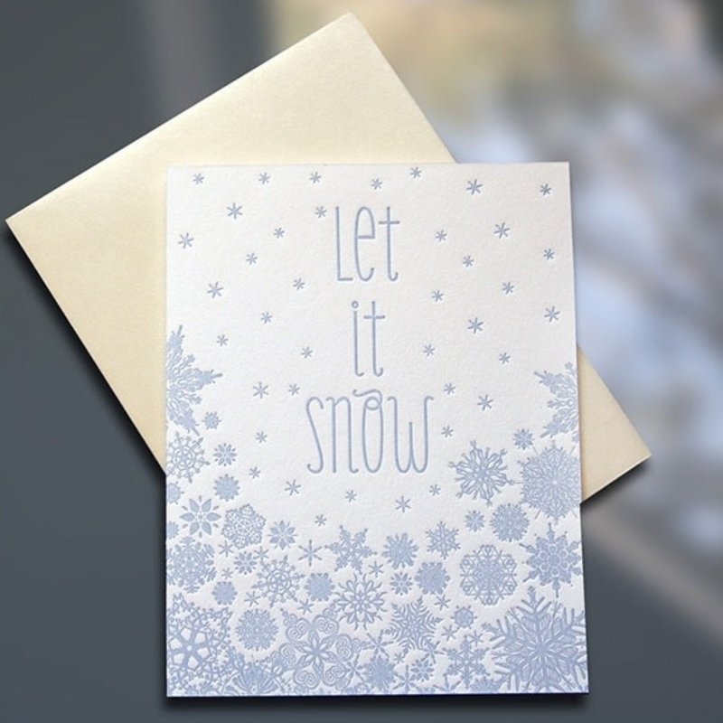 Sky of Blue Cards Let It Snow Card - Box Of 6