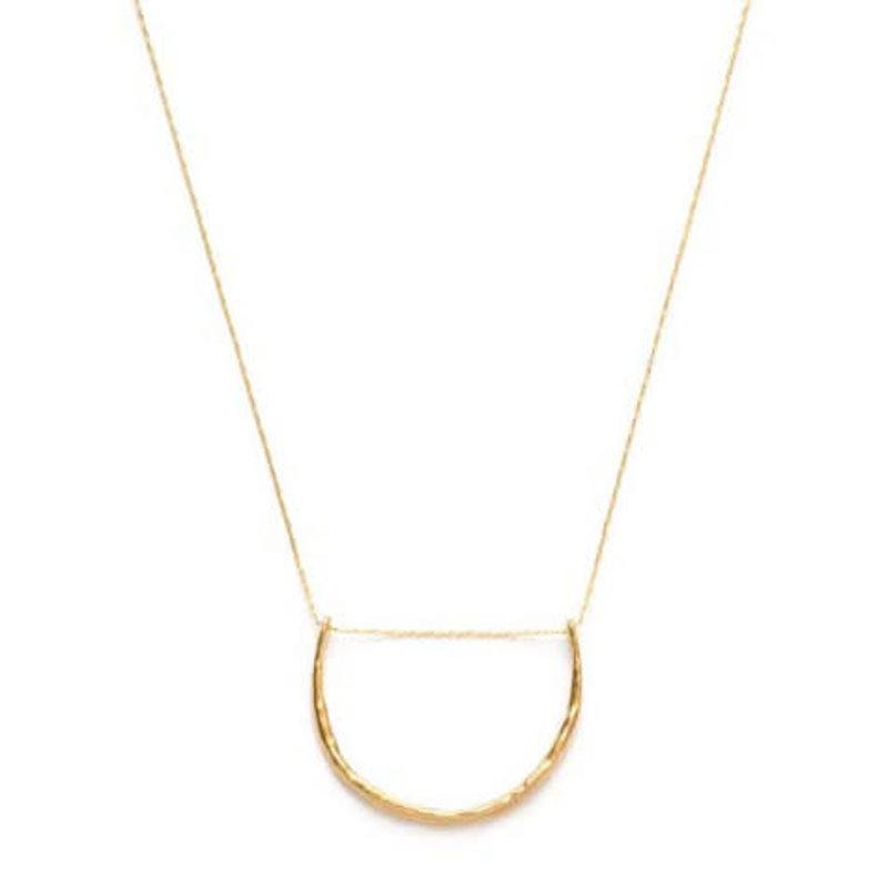 Amano Studios Hammered Crescent Necklace
