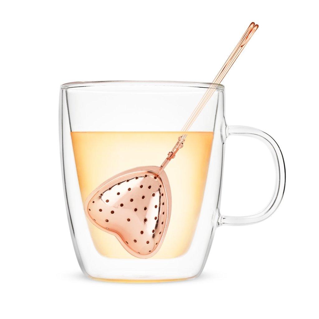 Rose Gold Heart Tea Infuser