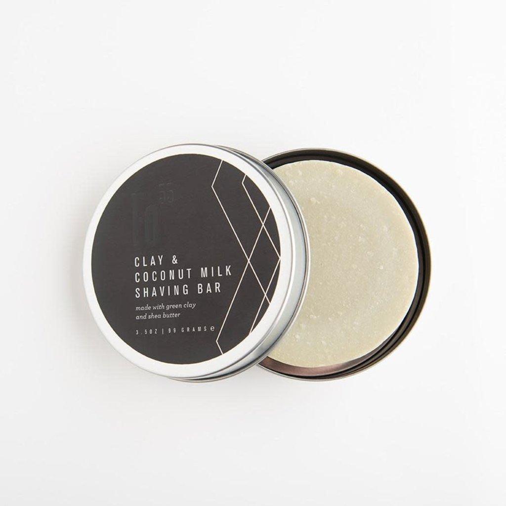 SHAVING SOAP GREEN CLAY & COCONUT MILK