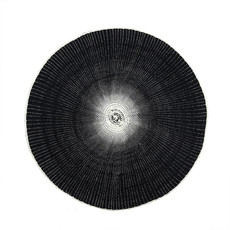 Indaba Willa Woven Placemat, Black