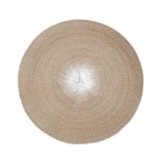 Indaba Willa Woven Placemat, Taupe