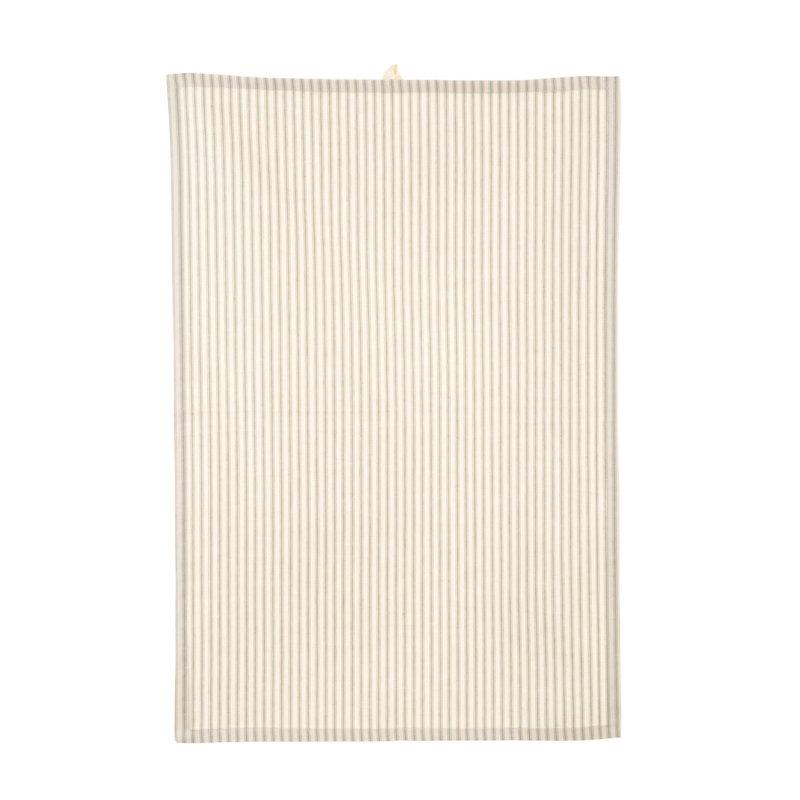 Indaba Ticking Tea Towel Gray