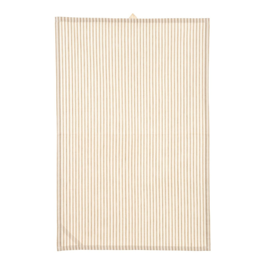 Indaba Ticking Tea Towel Beige
