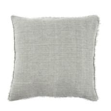 Indaba Lina Linen Pillow, Flint Gray
