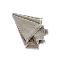 Indaba Frayed Edge Napkin Crystal Gray