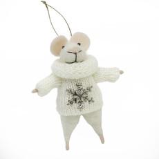 Indaba Petunia Mouse Ornament