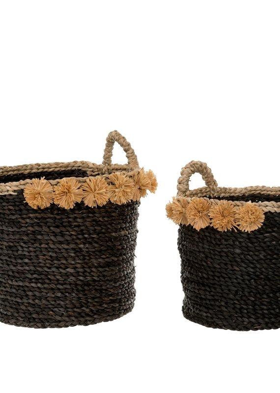 Indaba Cosimo Seagrass Baskets - Black