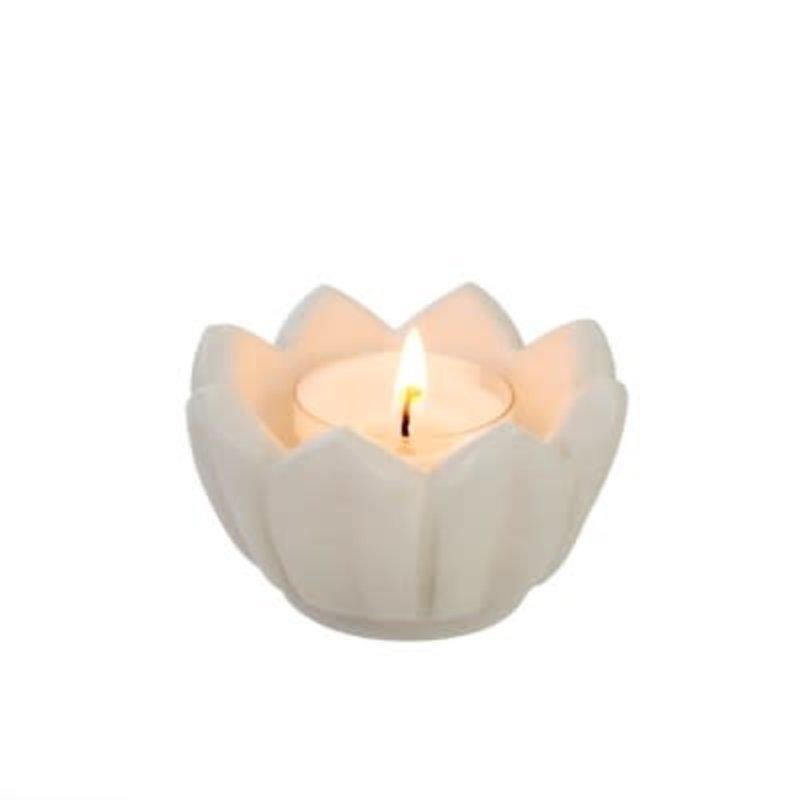 Indaba Open Lotus Marble Votive