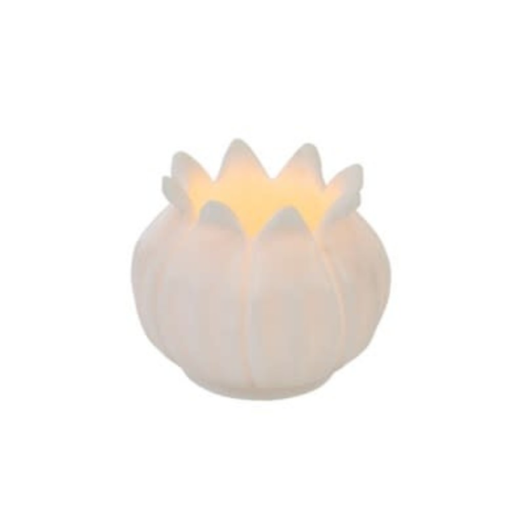 Indaba Wild Lotus Marble Votive
