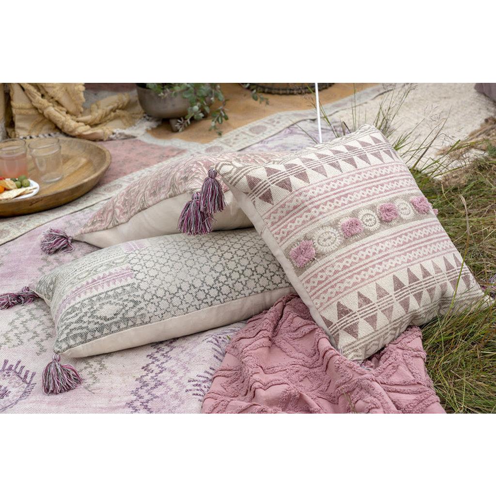 Indaba Rosa Block Print Pillow