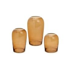 The Pine Centre BODINAR MED GLASS VASE AMBER