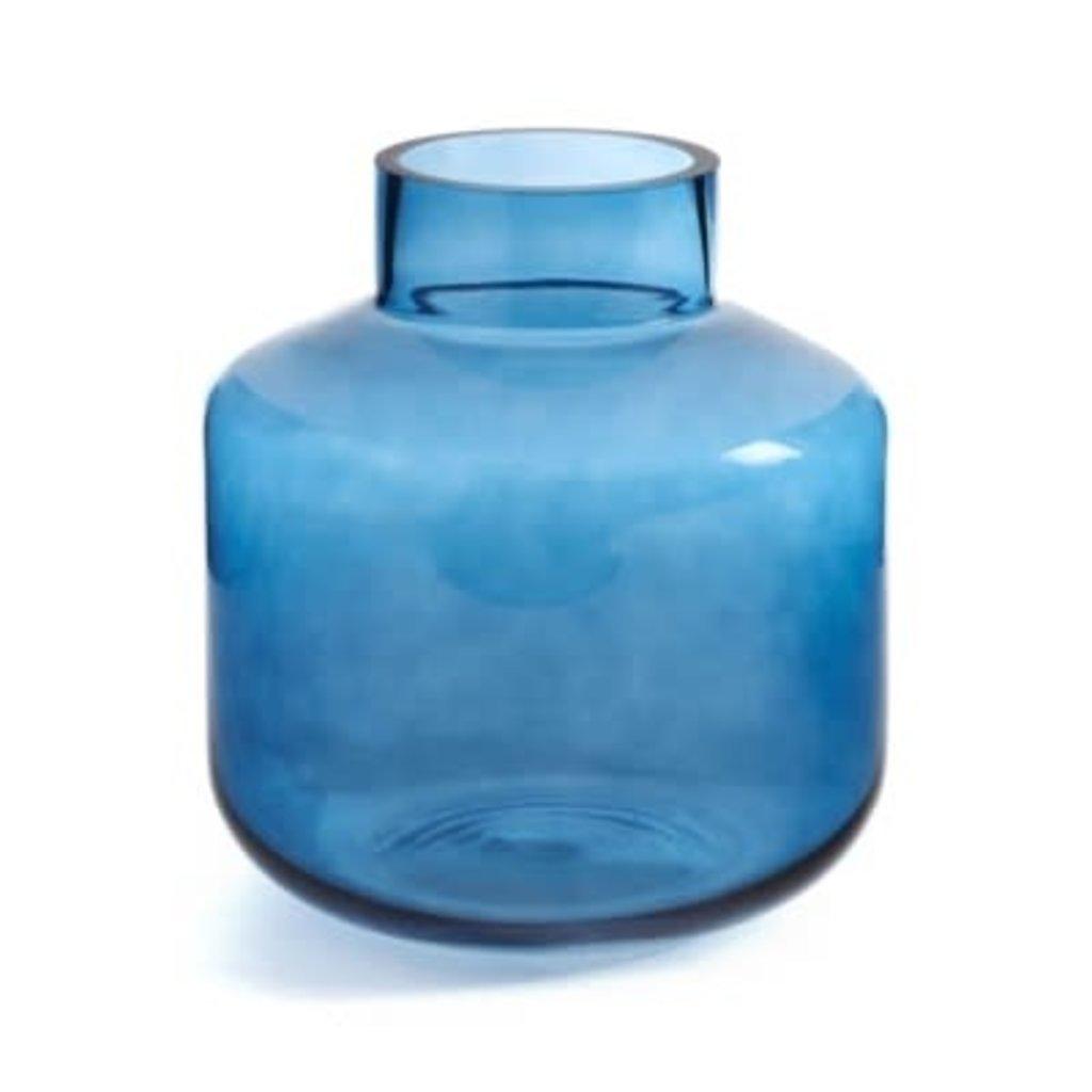 The Pine Centre Ankara - Colored Glass Vase - Navy