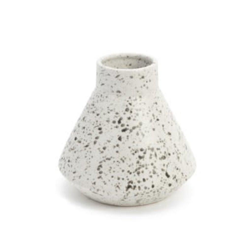 The Pine Centre Larry - Ceramic Vase - Black/White