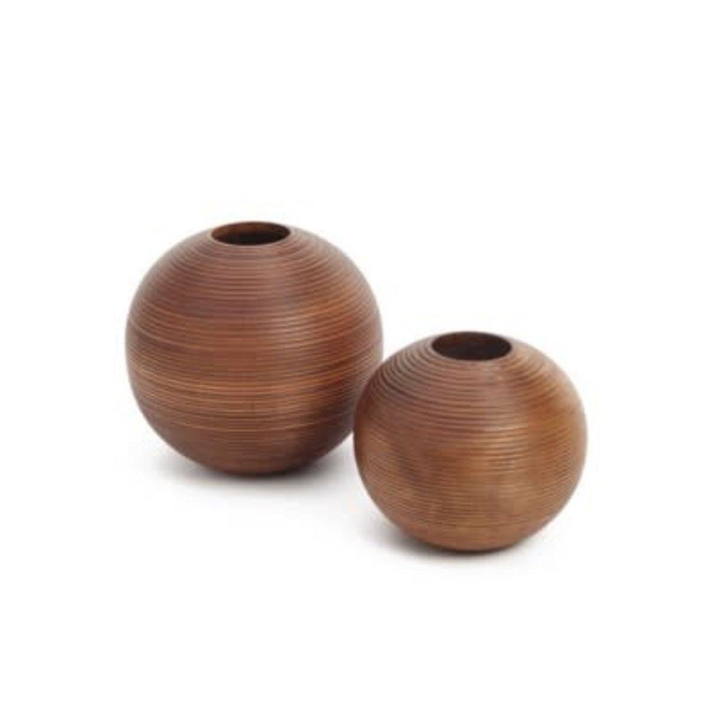 The Pine Centre Kenya - Small Round Wood Vase