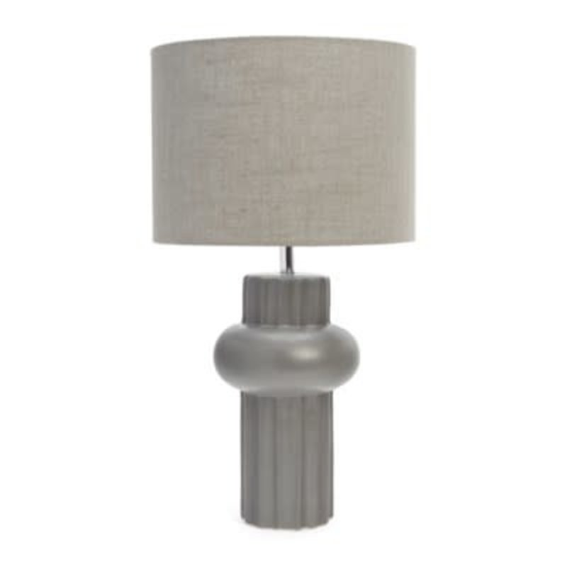 The Pine Centre BALDWIN CER TABLE LAMP CHARC
