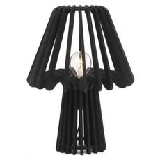 The Pine Centre CALPE WOOD TAB LAMP BLACK