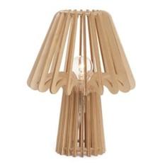 The Pine Centre CALPE WOOD TAB LAMP NAT