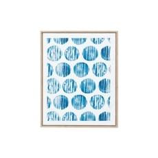 Canvas Circles - Blue & White