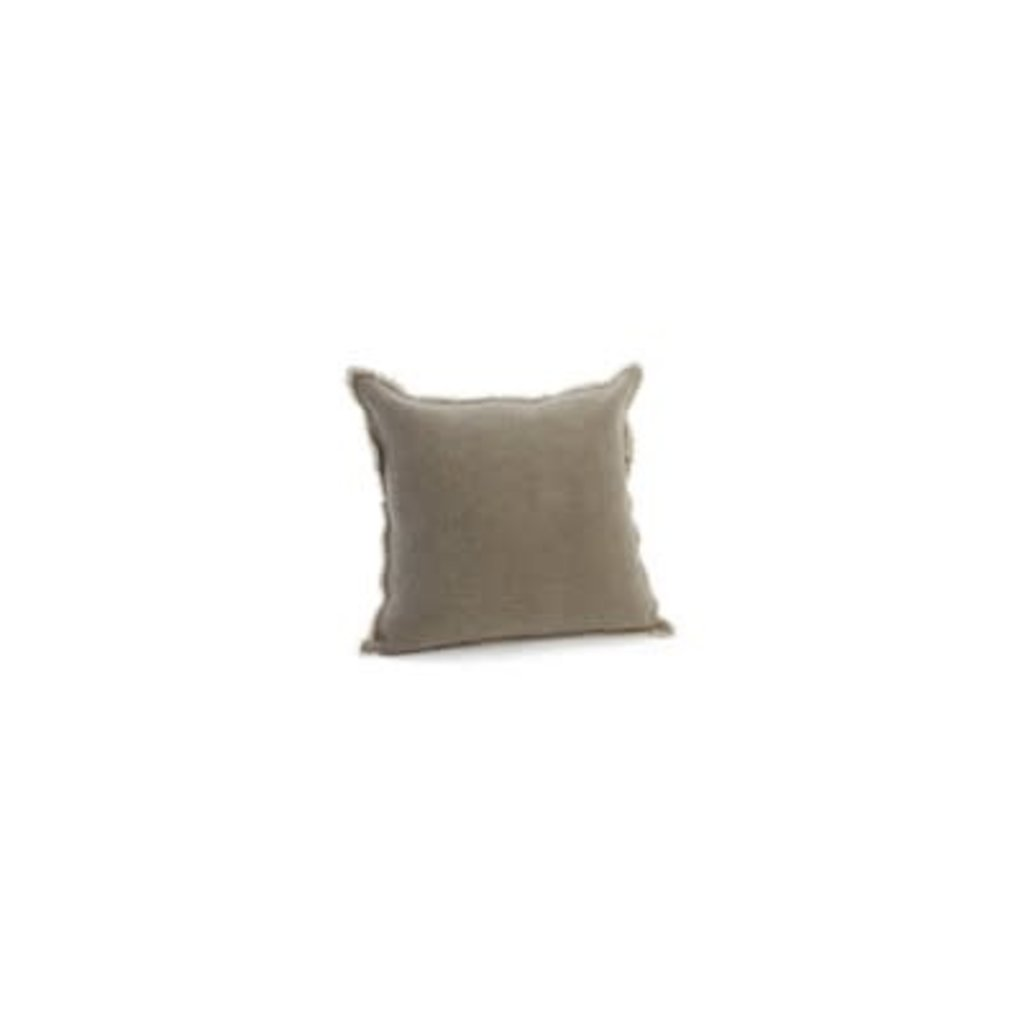 The Pine Centre Cotton Washed Grey - Throw Pillow