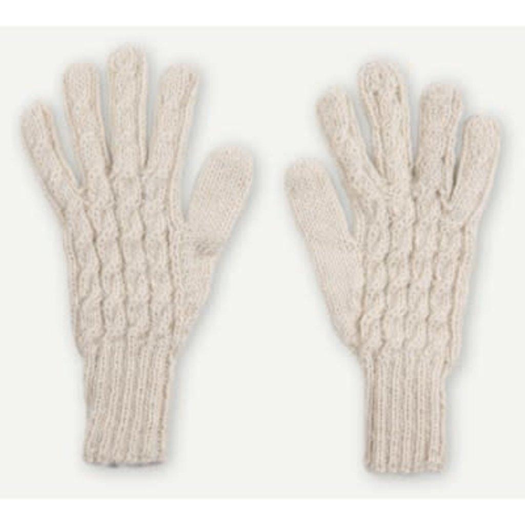 Pokoloko Hand-Knit Alpaca Gloves - Ivory