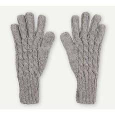Pokoloko Hand-Knit Alpaca Gloves - Steel