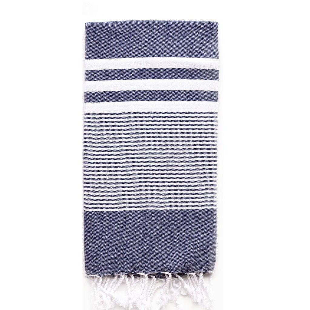 Turkish T Nina Towel: Navy