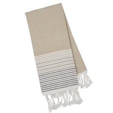 Design Imports Taupe Diamond Fouta Kitchen Towel