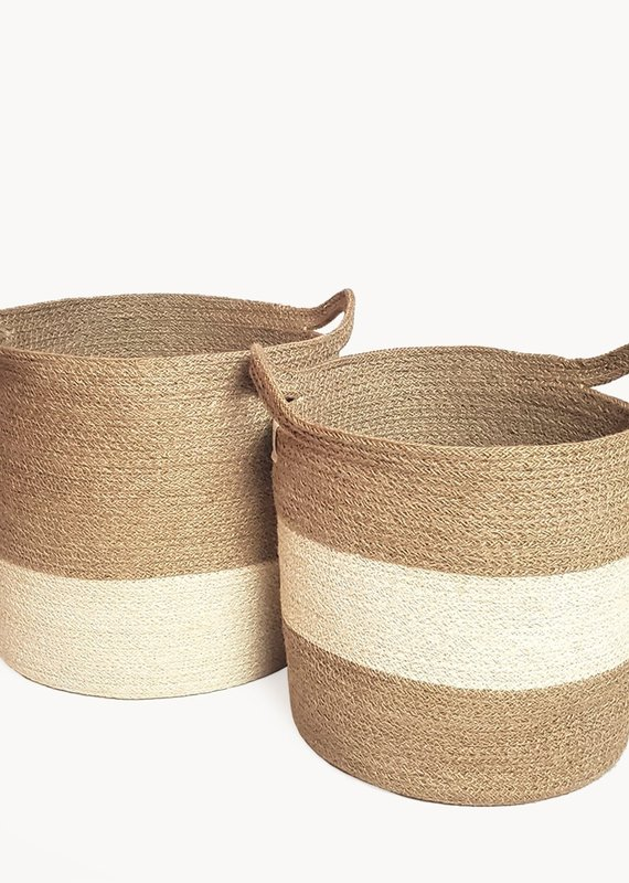Korissa Agora Stripe Basket (Set of 2)