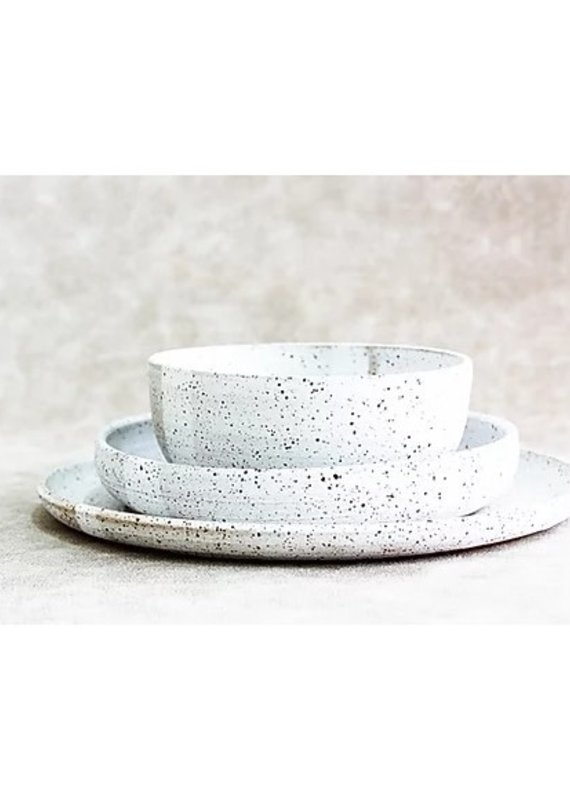 RV Pottery Simple Place Setting (3-Piece) With Noodle Bowl: Dalmatian