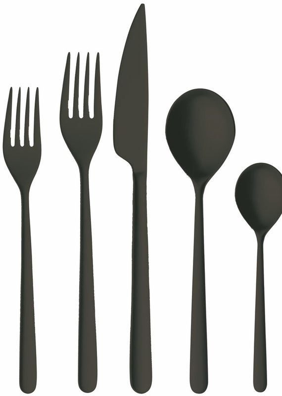 Mepra Cutlery Set 5 Pcs Linea Ice Oro Nero