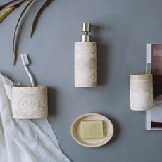 Mooi Space Vanity Tan Motif Resin - Frisian Bath Collection