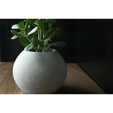 Large Round Planter White