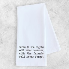 Dev D & Co. Here's to the Nights - Tea Towel