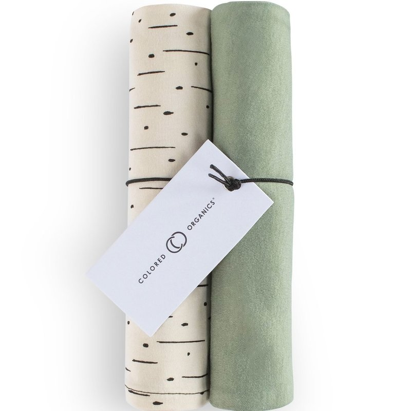 Colored Organics Burp Cloth (2-pack) - Thyme and Natural Dash