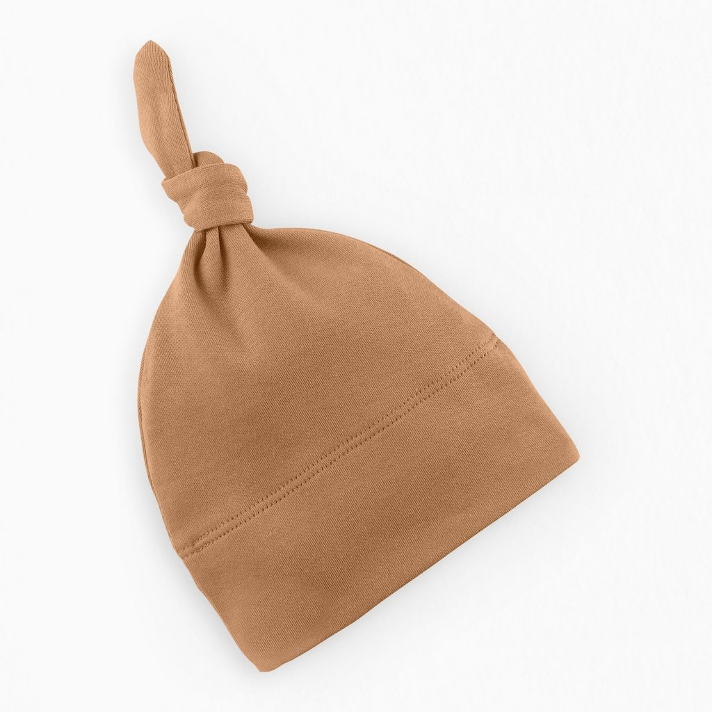 Colored Organics Classic Knotted Hat - Ginger NB