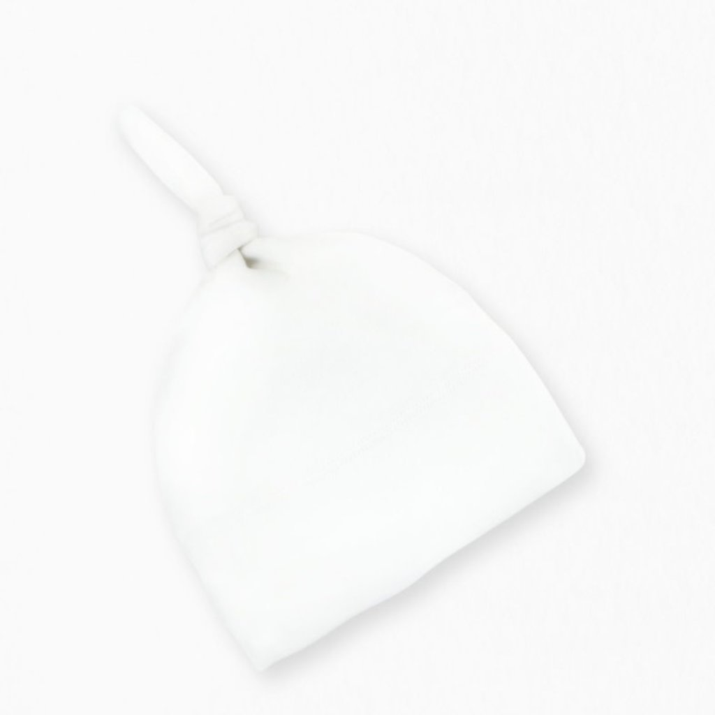 Colored Organics Classic Knotted Hat - White NB
