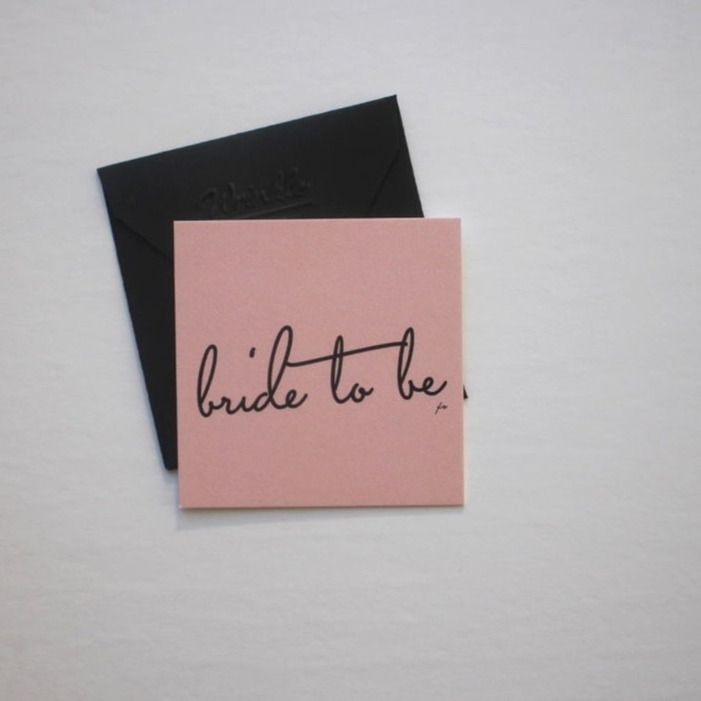 Wrinkle and Crease Paper Products Bride to Be Mini Notecard