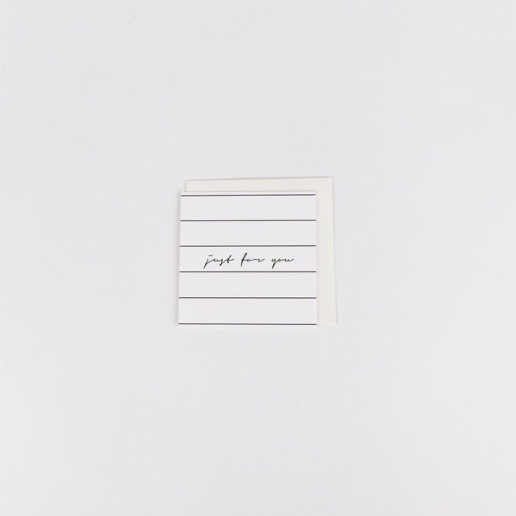 Wrinkle and Crease Paper Products Just For You Mini Notecard