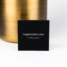 Wrinkle and Crease Paper Products Mini Notecard - Appreciate You